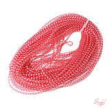 Кринолин нейлон трубчатый 4мм с люрексом серебро цвет красный, фото 3