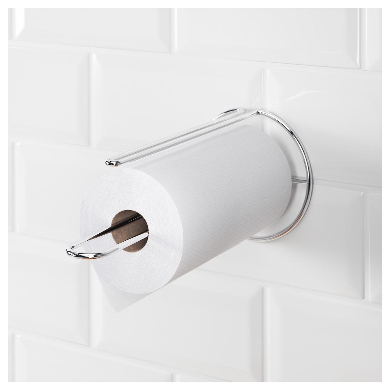 ТОРКАД Кухонный рулонодержатель, цвет алюминия  00208670 IKEA, ИКЕА, TORKAD