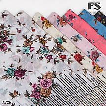 Лёгкий батистовый платок Леопардовые полосы, фото 3