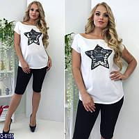fd10d461da4 Купить женскую футболку с паетками 42 44 46 новинка Футболки майки топы  разлетайки недорого опт розница