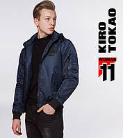 11 Kiro Tokao | Японский мужской бомбер 9981-1 т-синий