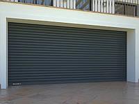 Стальные рулонные ворота с внутривальным электроприводом из профиля RHS75, RHS75P