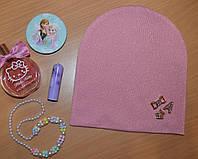 Двухслойная шапка для девочек Польша розовый, фото 1