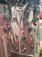 Кардиган весенний стильный декорированный искусственным мехом для девочки-подростка.только опт