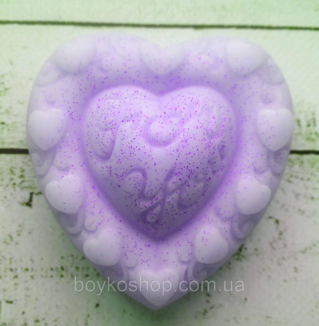 Форма для мыла силиконовая Сердце 2Д