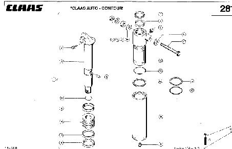HYDRAULIKZYLINDER; SCHNEIDWERK-QUERANPA - CLAAS LEX 430-415 (2)