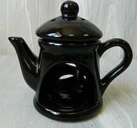 Аромалампа керамічна Чайник чорний К026.017, 13 см Аромалампа керамическая Чайник черный