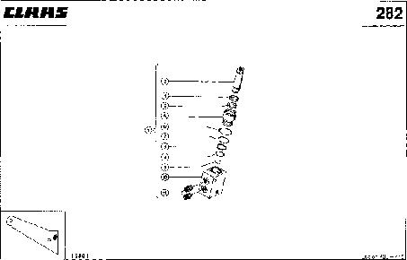 ГИДРОЦИЛИНДР; ПРИВОД РЕВЕРСА - CLAAS LEX 430-415