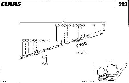 HYDRAULIKZYLINDER; KORBVERSTELLUNG, LIN - CLAAS LEX 430-415