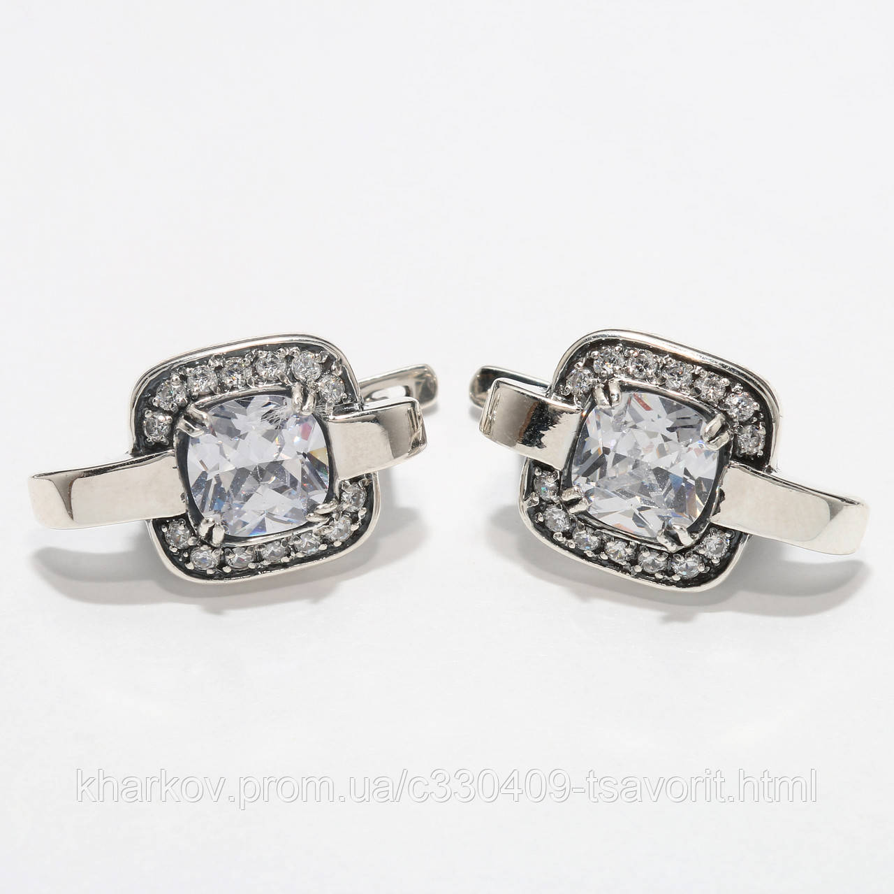 Серебряные серьги 1112916