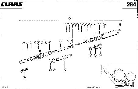HYDRAULIKZYLINDER; KORBVERSTELLUNG, REC - CLAAS LEX 430-415