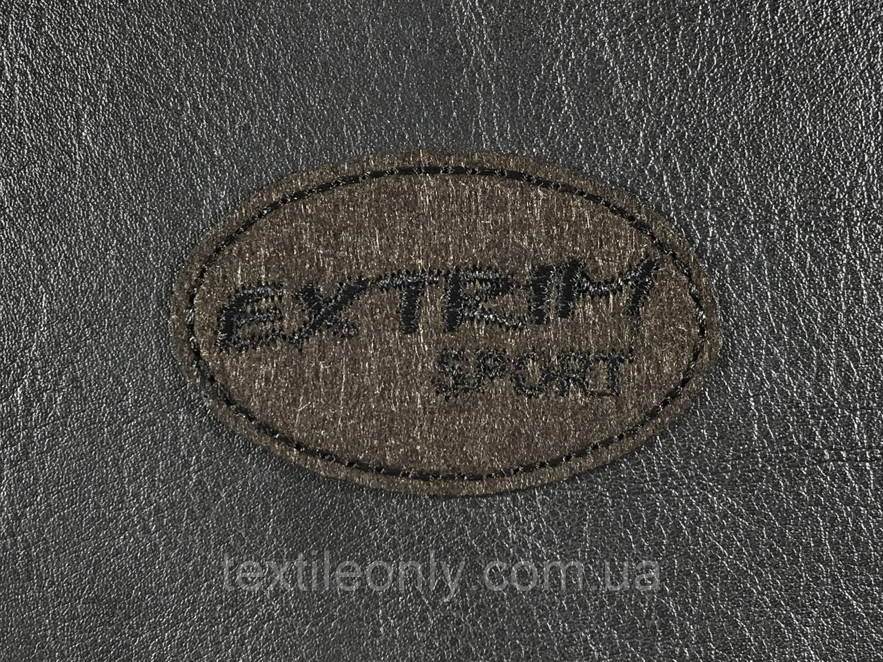 Нашивка Extrim sport цвет коричневый 60x38 мм