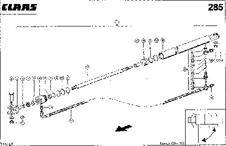 HYDRAULIKZYLINDER; SCHWENKEN KORNT.AUSL - CLAAS LEX 430-415