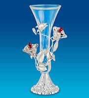 Хрустальная вазочка Розы Сваровски с посеребрением AR-1375