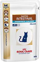 Консервы 100 г для кошек при нарушении пищеварения Роял Канин / GASTRO INTESTINAL MODERATE CALORIE FELINE Pouc