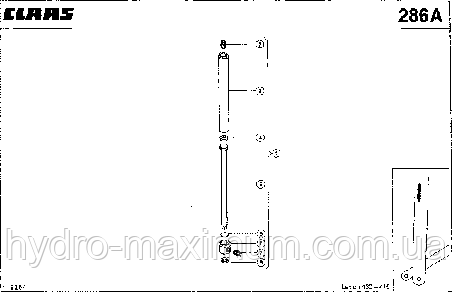 ГИДРОЦИЛИНДР; ИЗМЕРИТЕЛЬ ВЛАЖНОСТИ - CLAAS LEX 430-415