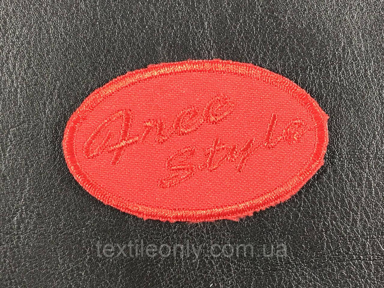 Нашивка Free Style цвет красный 65x40 мм