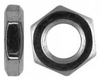 Гайка DIN 439 низкая с левой резьбой оц, нержавеющая А2, А4 и латунная