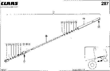 HYDRAULIKZYLINDER; STROHHAECKSLER VOR - - CLAAS LEX 430-415