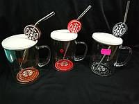 """Чашка с крышкой """"Starbucks"""" с трубочкой"""