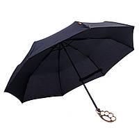 Зонт с ручкой в виде кастета Черный
