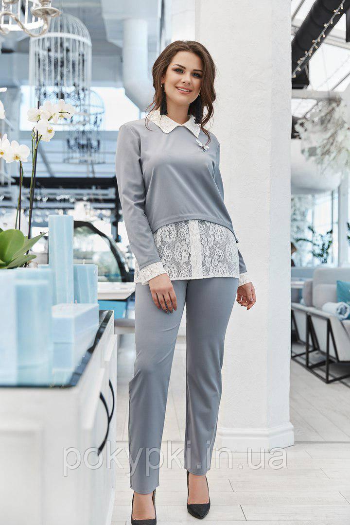 f1296a55e3dae63 Купить Женский нарядный брючный костюм для пышных дам в Харькове от ...