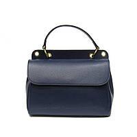 Женская сумка Felicita, из натуральной кожи, итальянская, фабричная, синего цвета, два отделения