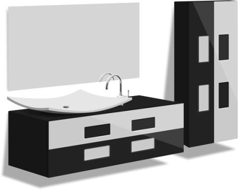 Тумбы, пеналы, зеркальные шкафы, зеркала  для ванной