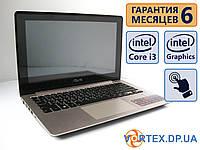 Сенсорный ноутбук Asus S200e 11.6 (1366x768) / Intel Core i3-3217U (2x1.80GHz) / 4Gb / 500Gb / АКБ 2 ч. / Сост. 8,5