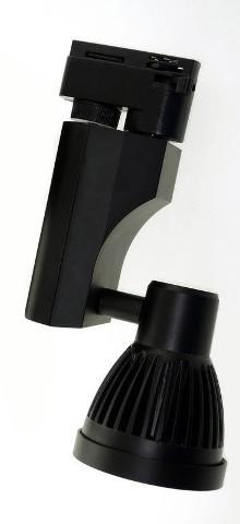 Светодиодный трековый светильник 7W 5000К черный Код.57962