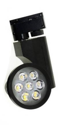 Светодиодный трековый светильник 7W 5000К черный Код.57962, фото 2