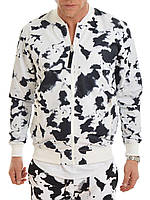 Мужская черно белая куртка Bomber Jacket AOP от Galagowear в размере L