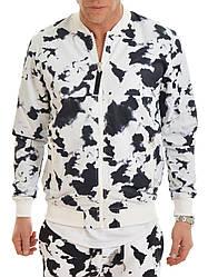 Чоловічий бомбер чорно білий Bomber Jacket AOP від Galagowear куртка в розмірі L