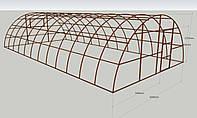 Теплица каркасного типа разборная ширина 6м, длина 12м.