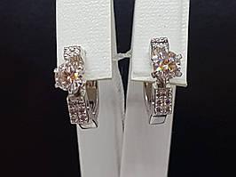 Золоті сережки з діамантами. Артикул 203184