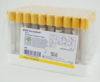 Пробирки активатор свертывания+гель BD Vacutainer с желтой крышкой 3.5мл 13x75мм упаковка 100 шт.