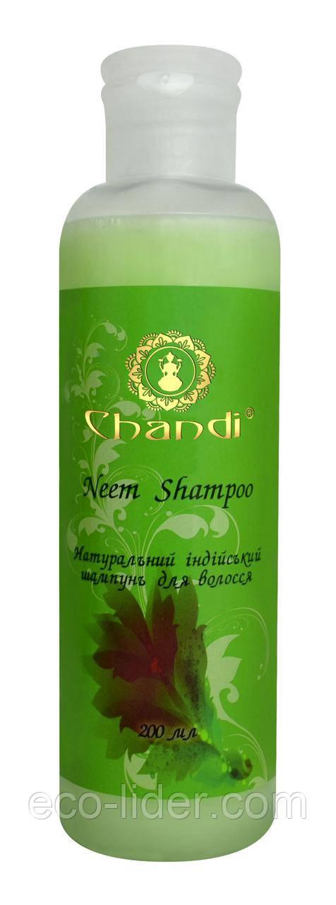 """Натуральный индийский шампунь """"Ним"""" Chandi, 200 мл"""