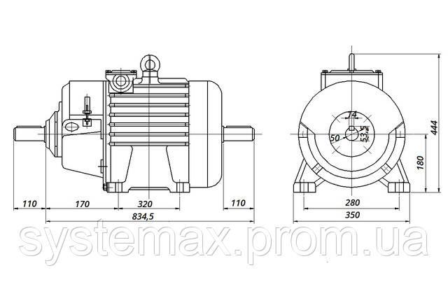 МТН 312-8 - IM1002 комбинированный (габаритные и установочные размеры)