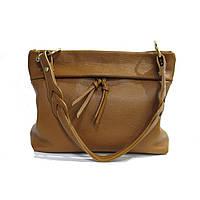 Женская сумка Felicita, из натуральной кожи, итальянская, фабричная, рыжего цвета, на одно отделение