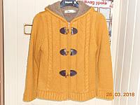 Вязаная горчичная  курточка на меху John Banner, фото 1