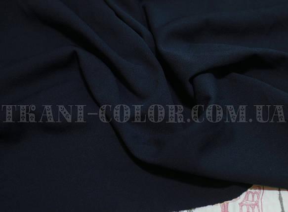 Трикотаж креп- дайвинг темно-синий, фото 2