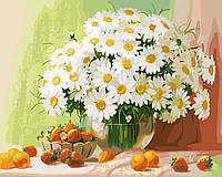 Картина по номерам Букет ромашек