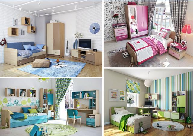 Детская комната Акварели (варианты интерьеров)