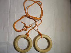 Кольца  детские гимнастические подвесные деревянные Эконом