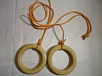 Кольца  детские гимнастические подвесные лакированные деревянные Премиум