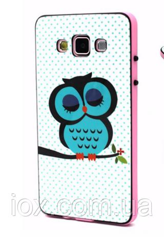 """Силиконовый двойной чехол с бампером """"Сова"""" для Samsung Galaxy A5"""