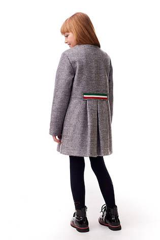 Пальто демисезонное для девочек 122-140 роста Шанель, фото 2