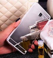 Силиконовый серебристый чехол зеркало для Samsung Galaxy A5 (2016), фото 1
