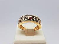 Золотое кольцо с фианитами и эмалью. Артикул 380224Е