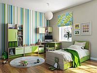 Детская комната серии Акварели зеленые